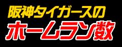 阪神タイガースのホームラン数